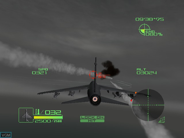 In-game screen of the game AirForce Delta Storm on Microsoft Xbox