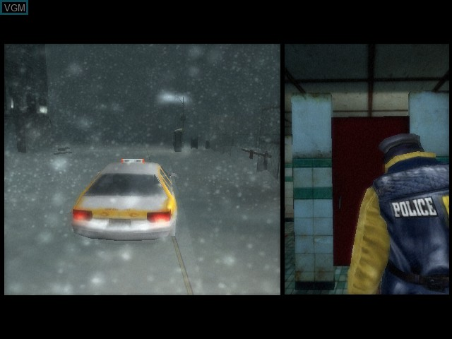 In-game screen of the game Fahrenheit on Microsoft Xbox