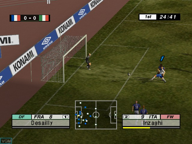 In-game screen of the game International Superstar Soccer 2 on Microsoft Xbox