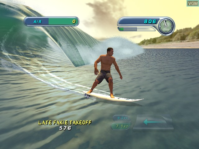 In-game screen of the game Kelly Slater's Pro Surfer on Microsoft Xbox