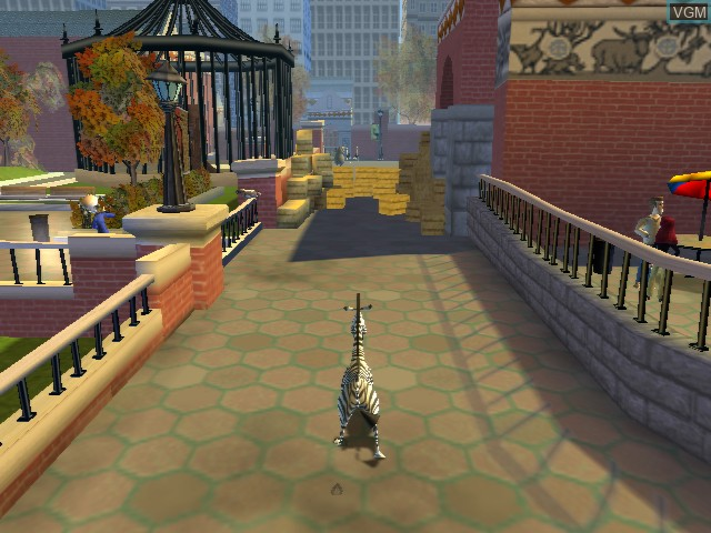 In-game screen of the game Madagascar on Microsoft Xbox