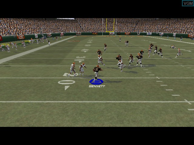 In-game screen of the game Madden NFL 2004 on Microsoft Xbox
