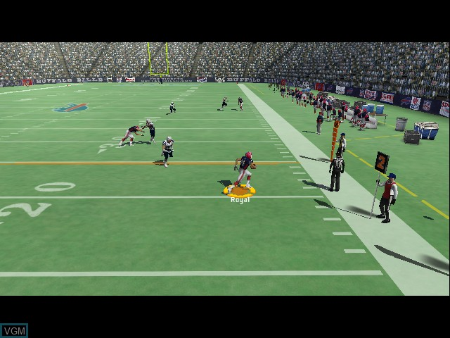 In-game screen of the game Madden NFL 07 on Microsoft Xbox
