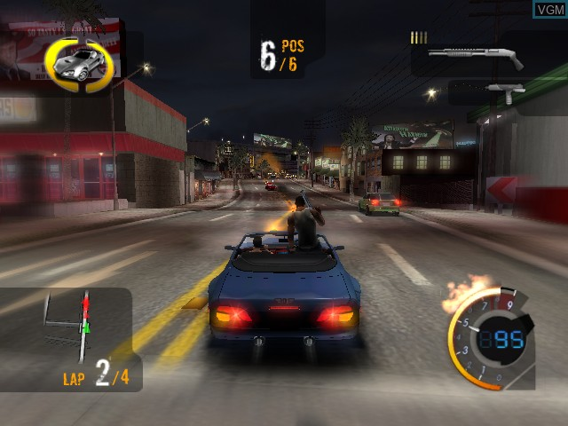 In-game screen of the game 187 Ride or Die on Microsoft Xbox
