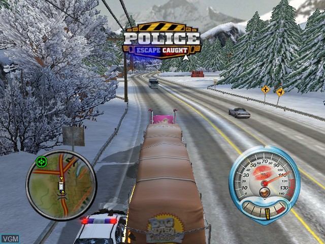 In-game screen of the game Big Mutha Truckers 2 on Microsoft Xbox
