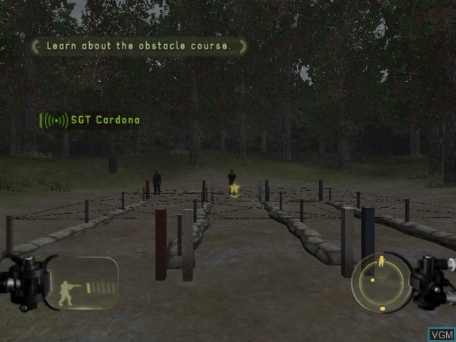 In-game screen of the game America's Army - Rise of a Soldier on Microsoft Xbox