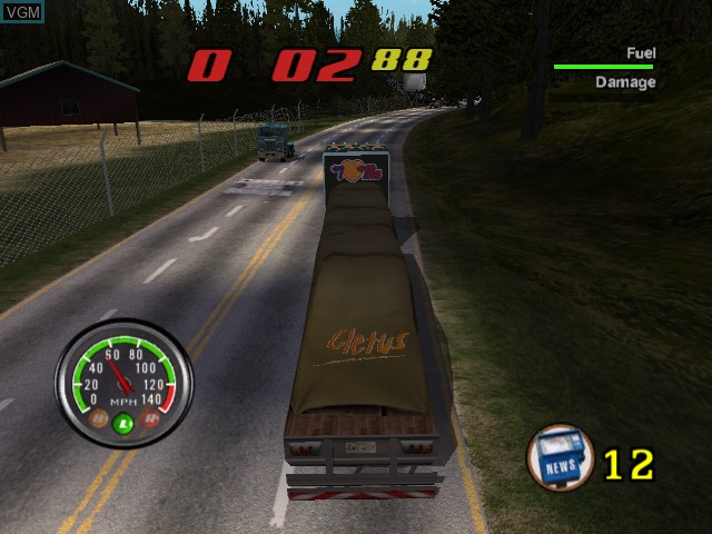 In-game screen of the game Big Mutha Truckers on Microsoft Xbox