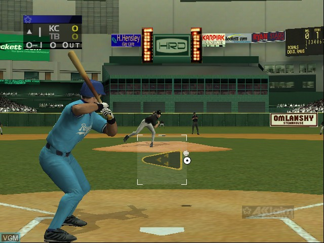 In-game screen of the game All-Star Baseball 2003 on Microsoft Xbox