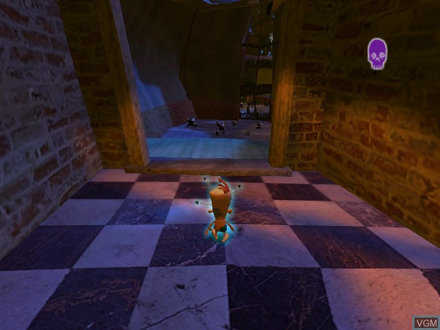 In-game screen of the game Voodoo Vince on Microsoft Xbox