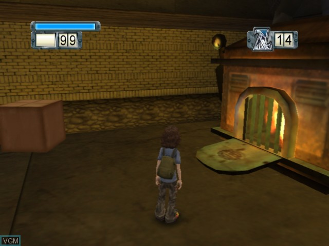 In-game screen of the game Zathura on Microsoft Xbox