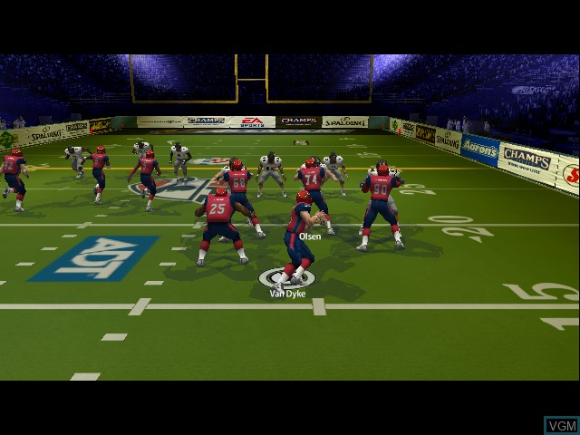In-game screen of the game Arena Football on Microsoft Xbox