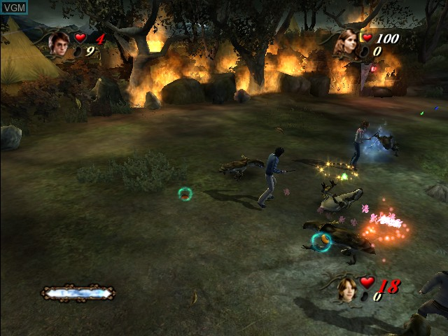 In-game screen of the game Harry Potter and the Goblet of Fire on Microsoft Xbox