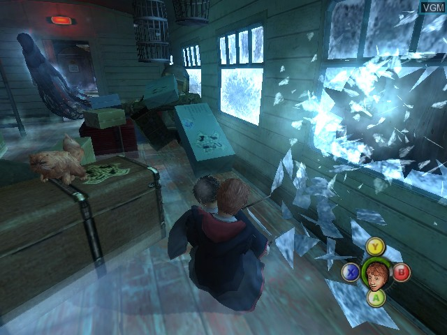 In-game screen of the game Harry Potter and the Prisoner of Azkaban on Microsoft Xbox