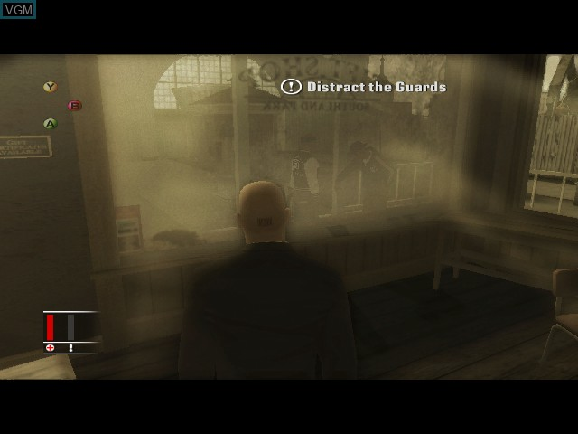 In-game screen of the game Hitman - Blood Money on Microsoft Xbox