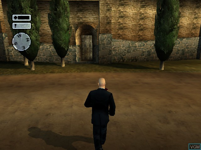 In-game screen of the game Hitman 2 - Silent Assassin on Microsoft Xbox