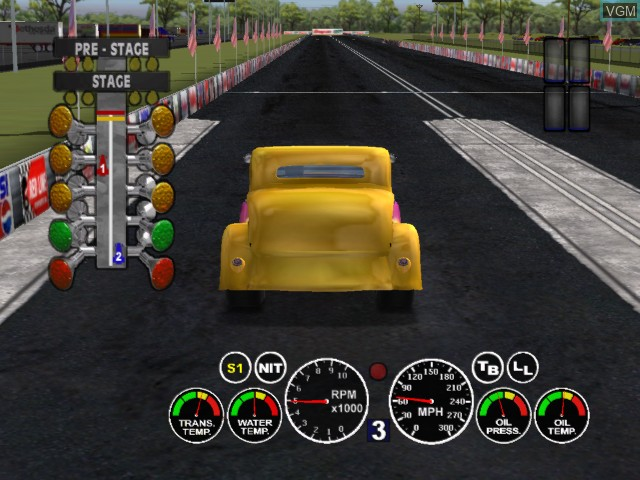 In-game screen of the game IHRA Drag Racing 2004 on Microsoft Xbox