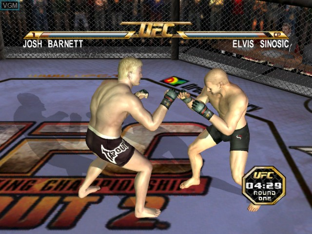 In-game screen of the game UFC - Tapout 2 on Microsoft Xbox