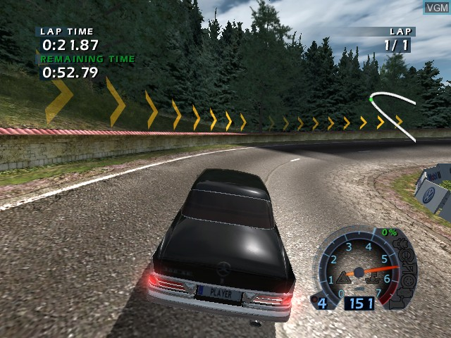 In-game screen of the game World Racing 2 on Microsoft Xbox