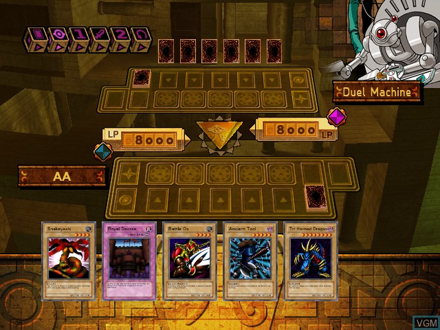 In-game screen of the game Yu-Gi-Oh! The Dawn of Destiny on Microsoft Xbox
