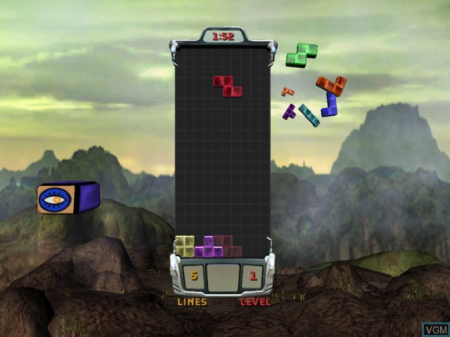 In-game screen of the game Tetris Worlds on Microsoft Xbox