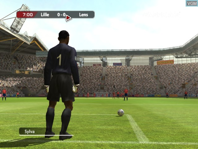 In-game screen of the game FIFA Football 2005 on Microsoft Xbox