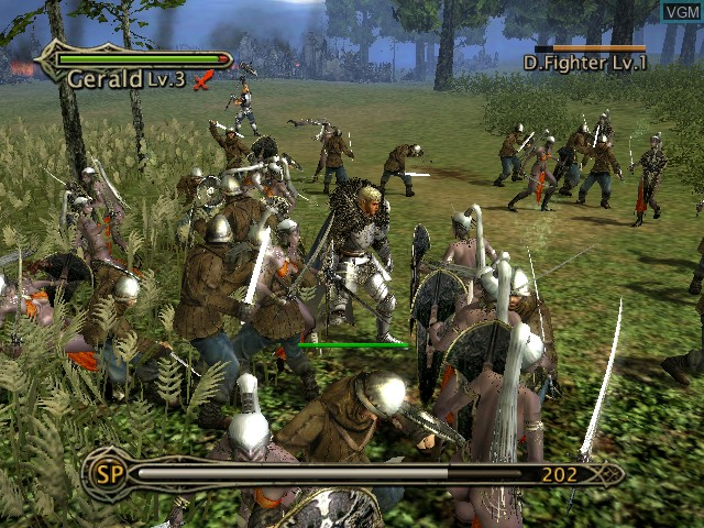In-game screen of the game Kingdom Under Fire - The Crusaders on Microsoft Xbox