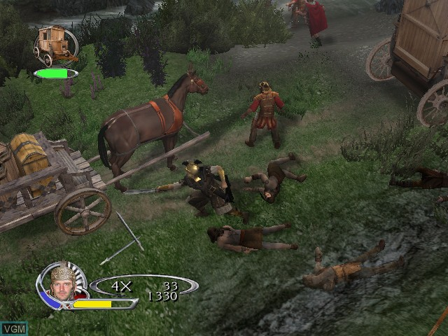In-game screen of the game King Arthur on Microsoft Xbox