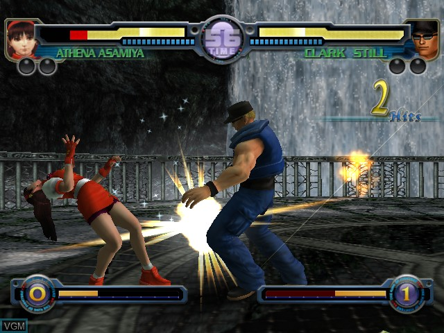 In-game screen of the game King of Fighters, The - Maximum Impact - Maniax on Microsoft Xbox