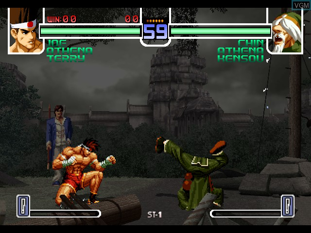 In-game screen of the game King of Fighters 2002, The on Microsoft Xbox