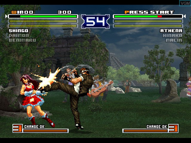 In-game screen of the game King of Fighters 2003, The on Microsoft Xbox