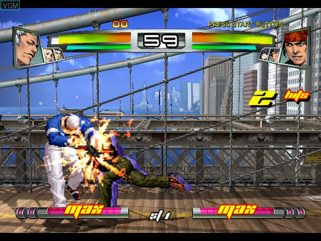 In-game screen of the game King of Fighters NeoWave on Microsoft Xbox