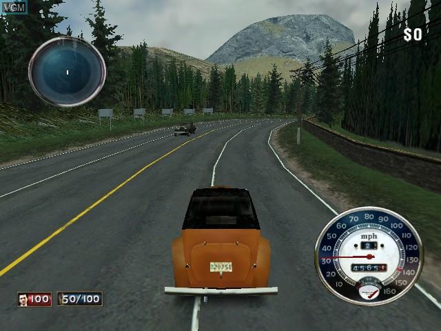 In-game screen of the game Mafia on Microsoft Xbox