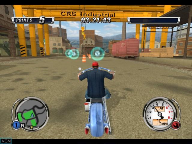 In-game screen of the game American Chopper 2 - Full Throttle on Microsoft Xbox