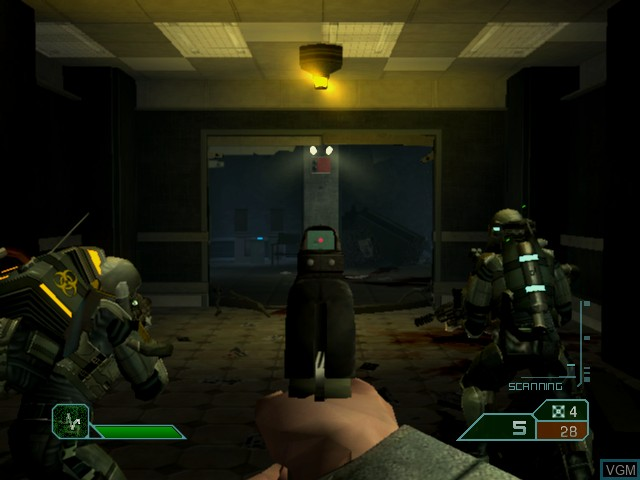 In-game screen of the game Area 51 on Microsoft Xbox