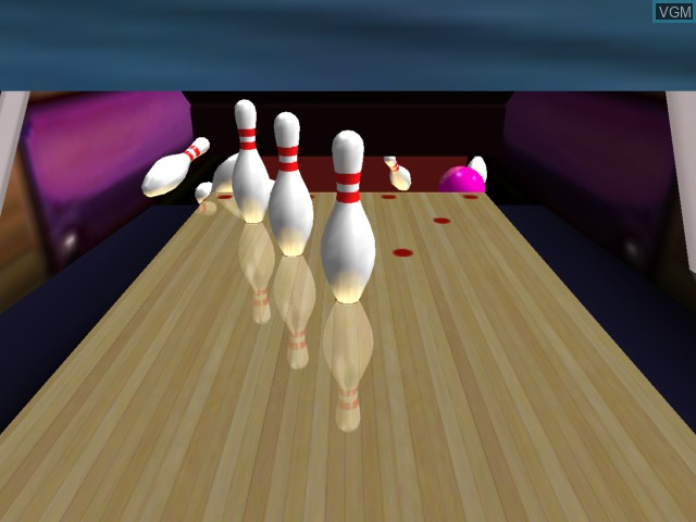 In-game screen of the game AMF Bowling 2004 on Microsoft Xbox