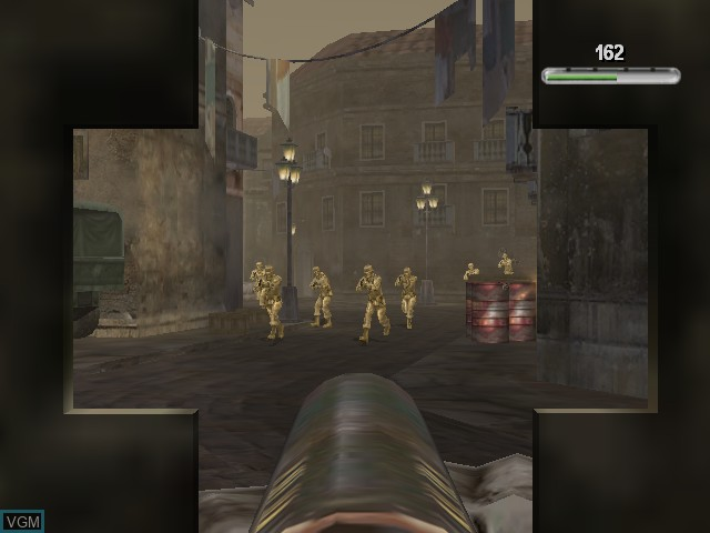 In-game screen of the game Army Men - Sarge's War on Microsoft Xbox