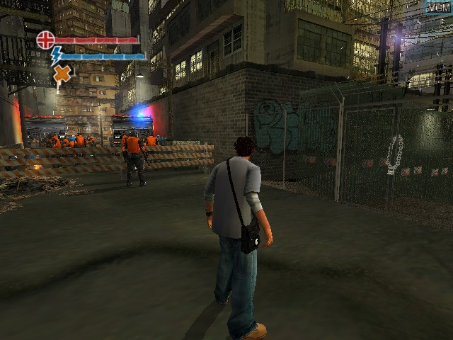 In-game screen of the game Marc Ecko's Getting Up - Contents Under Pressure on Microsoft Xbox