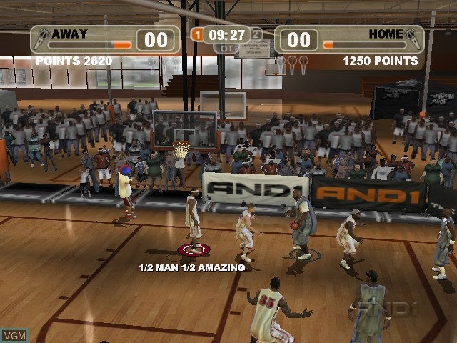 In-game screen of the game And 1 Streetball on Microsoft Xbox