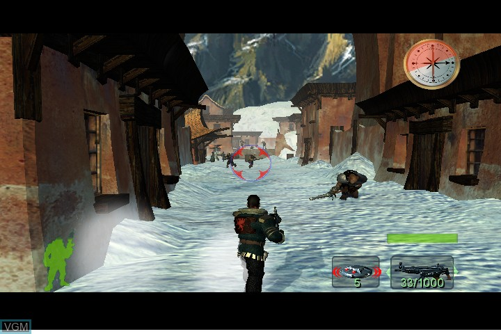 In-game screen of the game Armed and Dangerous on Microsoft Xbox