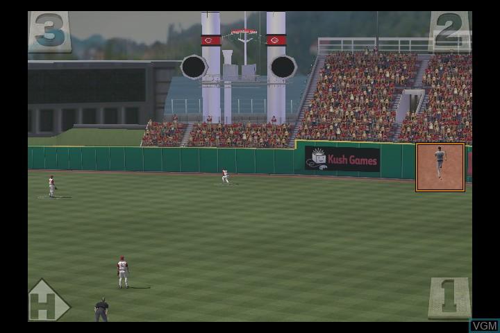 In-game screen of the game Major League Baseball 2K6 on Microsoft Xbox