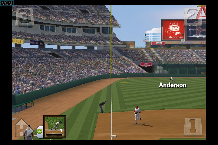 In-game screen of the game Major League Baseball 2K5 - World Series Edition on Microsoft Xbox
