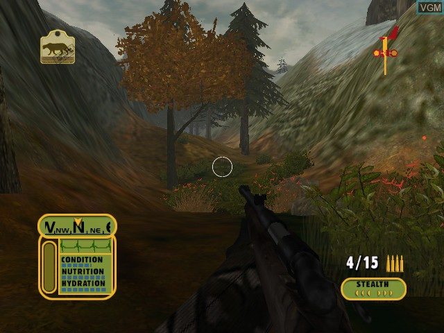 In-game screen of the game Cabela's Dangerous Hunts on Microsoft Xbox