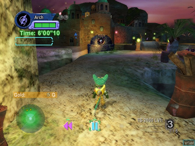 In-game screen of the game Blinx 2 - Battle of Time and Space on Microsoft Xbox