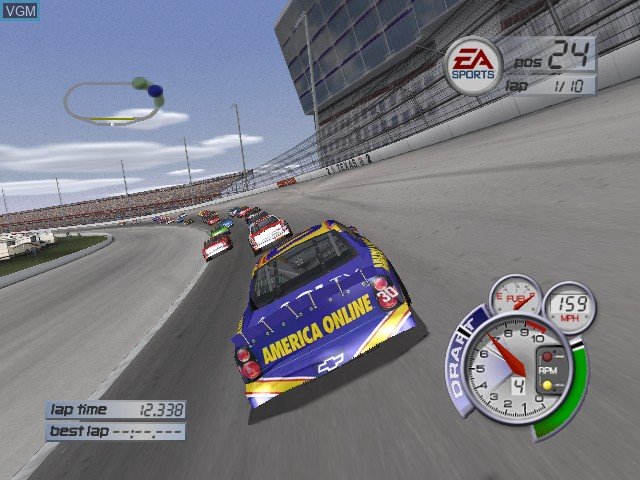 In-game screen of the game NASCAR Thunder 2002 on Microsoft Xbox