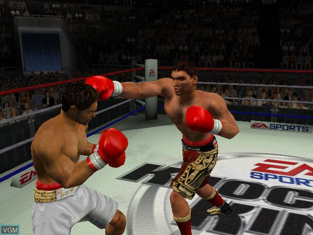 In-game screen of the game Knockout Kings 2002 on Microsoft Xbox