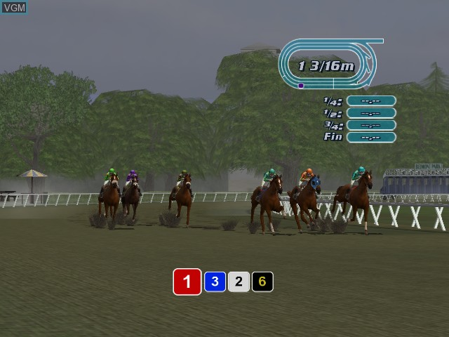 In-game screen of the game Breeders' Cup World Thoroughbred Championships on Microsoft Xbox