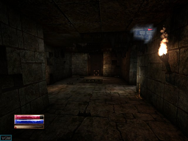 In-game screen of the game Arx Fatalis on Microsoft Xbox