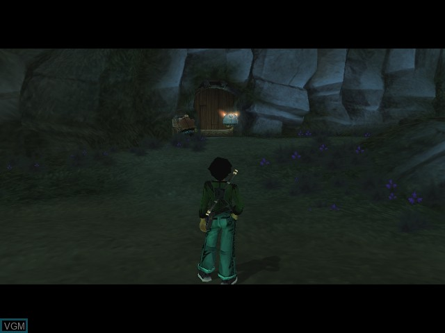 In-game screen of the game Beyond Good & Evil on Microsoft Xbox