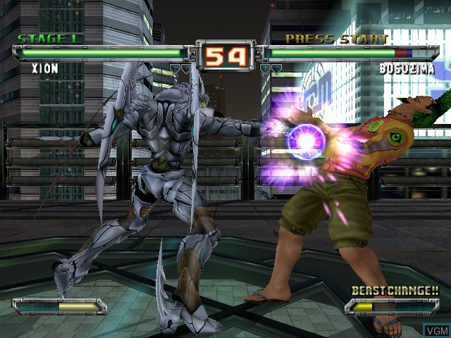In-game screen of the game Bloody Roar Extreme on Microsoft Xbox