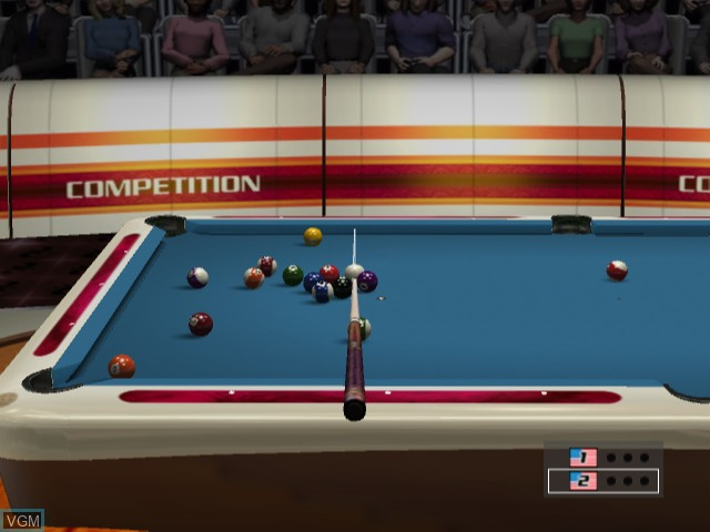 In-game screen of the game World Billiards Tournament - Break Nine on Microsoft Xbox
